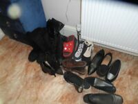shoe / boots and bags bundle size 6/7