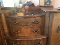 2 wardrobes dressing table and mirror original over 70 years old ideal upcycle project