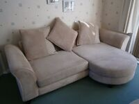 3 Piece suite in excellent condition hardly used, Settee, two arm chairs, footstool and cushions