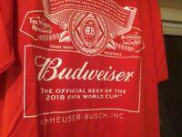 Budweiser t shirt . World Cup 2018 promo. New. XXXL.
