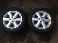 Nissan Note 185/65 E11 winter tyres on 15in. 4x100 rims