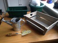 Various Gardening Equipment plus Orla Kiely garden trowel