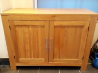 NEXT furniture solid oak sideboard / cupboard ideal storage for Christmas!