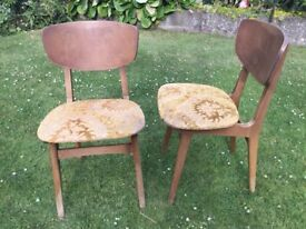 2 x Vintage REMPLOY Dining Chairs - Danish G-Plan Ercol style