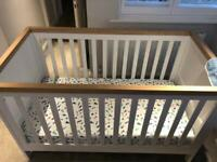 Mothercare Lulworth cot/bed-as new