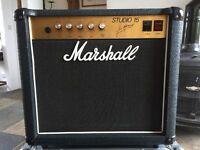 1986 Marshall Studio 15 valve amp rare collectable.