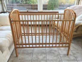 Mothercare Pine Wood Cot.