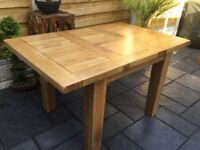 Solid Oak Extending Dining Table.