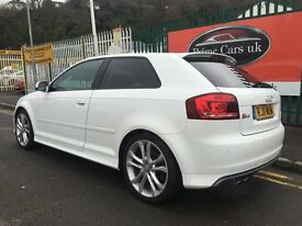 2011 (11 reg) Audi S3 2.0 TFSI Quattro 3dr Low Miles/Full Leather/Xenons 6 Speed Manual Turbo Petrol