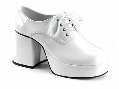 Saturday Night Fever Shoes (White Platform Shoes Saturday Night Fever  White Retro 70's Disco Platform)