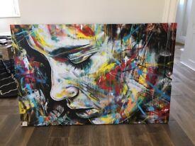 Colourful Woman Graffiti Art Canvas