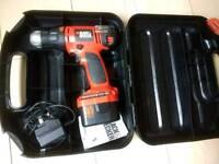 Black & Decker 12v cordless drill/driver