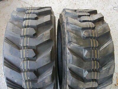 Two 2710.50x15 2710.50-15 Robertcat 8 Ply Loader Skid Steer Rim Guard Tires