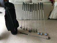 full set ladies Patty Berg woods and irons with bag
