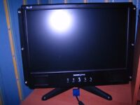 Hannspree XmS 19 inch flat screen monitor c/w built in speakers
