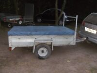 FULLY GALVANISED 6-6 X 4-0 GOODS TRAILER WITH LADDER RACK/COVER..