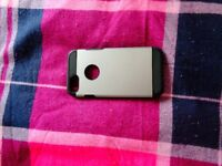 iphone 7 phone case silver and black
