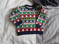Baby boy christmas jumper 12-18