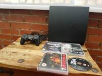 Ps3 slim 3003A,160GB, one controller all wires, 4 games