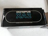 olympus camera XA2 with flash and box
