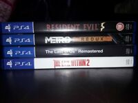 PS4 games, £10 each.