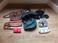 Assortment of ladies bags and purses