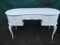 Vintage White French Louis Dressing Table / Desk.