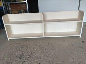 Bookshelf Handmade by Carpenter for Wall Mounting, Shown Floor Standing.