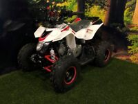 110cc Hi-Per THUNDERSTARTER QUAD **SCOTQUADS** **RESTRICTABLE THROTTLE** **JUST REV AND GO**