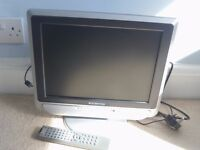 "Swisstec 15"" LCD TV with built in DVD player"
