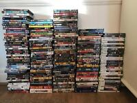 Over 200 DVD's, Blu Ray's, XBOX 360 & Wii Games