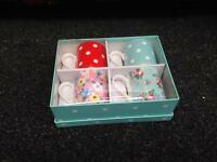SET OF FOUR CATH KIDSTON STYLE SPOTTY & FLORAL MUGS