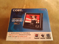 "Coby 7"" Widescreen TFT Portable DVD Player with USB and SD Card Slot"