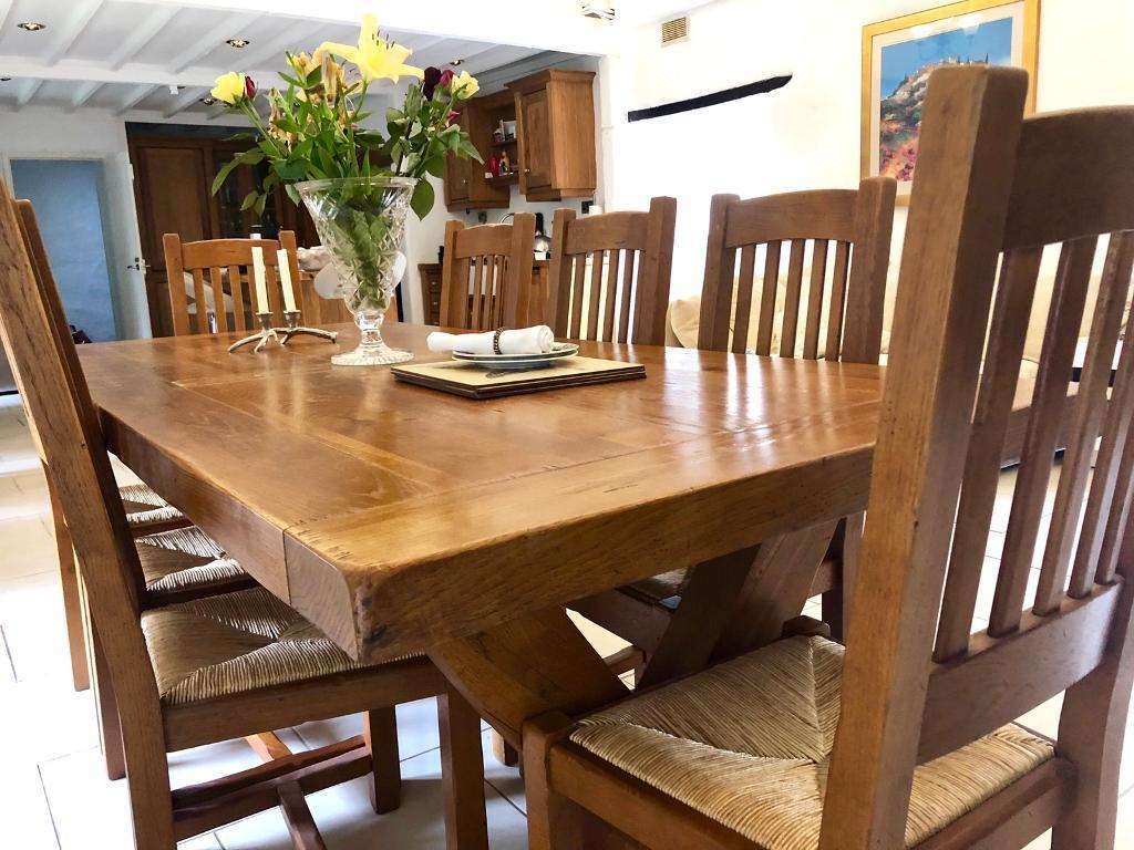 Solid Oak Dining Table Seater In Newquay Cornwall Gumtree - 12 seater solid wood dining table