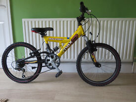 "GREAT BOYS FULL SUSPENSION MOUNTAIN BIKE..""RALEIGH MAX""..20"" WHEELS..ALL FULLY WORKING,READY TO RIDE"
