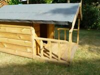 Dog Kennel with veranda extension. Buyer to collect