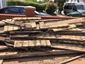 Free 6 x 2 assorted wood panels