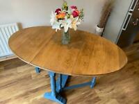 Up-Cycled Solid Oak Drop Leaf Table