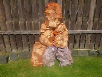 Bags of off cuts wood. £2. each , good for fires ,chimeneas/firewood
