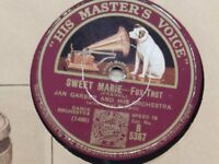 Vintage Gramophone Records Collection