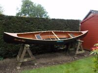 "14' ""Peterborough"" plywood canadian canoe built to Selway Fisher specifications."