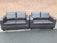 2x two seater leather sofas in excellent condition. I may be able to deliver