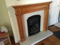 Fire surround with marble hearth and back plate