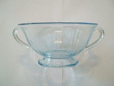 Fostoria Fairfax Azure Blue Cream Soup Elegant Depression Glass