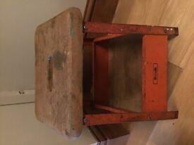 Vintage Industrial Metal Stool