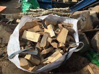 Logs coal kindling