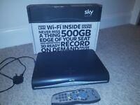 Sky+ plus HD set-top box WiFi 3D ready 500GB Remote in original box
