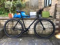State Matte Black Stealth 52cm Fixed-SingleSpeed Bike