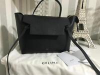 Celine mini belt bag black with receipts