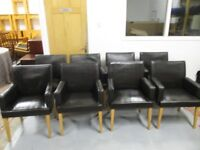 Set of 8 Leather Chairs